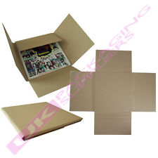 """25 X Strong 12"""" LP Cardboard Record Vinyl Cruciform Mailers Boxes"""