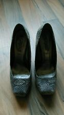 "ladies size 6 new look 4.5"" high heel faux snakeskin shoes"