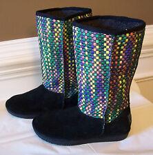 NEW Skechers Australia Women's Memory Foam Boots Textile Upper Size 7