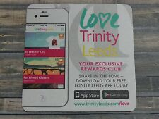 Beer Coaster ~^~ Love TRINITY LEEDS Rewards Club APP ~ Google Play ~ UK Internet