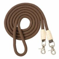 Royal King Cord Roping Reins Brown Horse Tack Equine 54-907