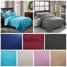 JML Bedspread Coverlet Set 3-Piece Oversized Bed Cover Ultrasonic Quilt