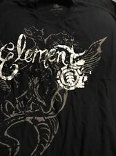 Element Bam Margera Black T Shirt XXL 2XL Mens All Over Monster Print