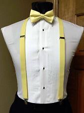 Men's clip-on suspenders x back and Bow Tie Retro Steampunk Costume Tux Prom
