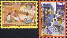 Polinesia Francesa 2004 Bus/Bicicleta/Ciclismo/tienda/Paño/transporte 2v Set (n45860)
