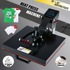 Professional T Shirt Press Clamshell Heat Press Machine For Pads More 15x15 Inch