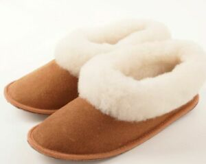 Unisex Portuguese Traditional Sheepskin Slippers Boots Genuine Leather