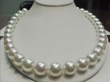 """HOT AAA++ RARE WHITE 9-10MM SOUTH SEA PEARLS NECKLACE 18"""" 14K"""