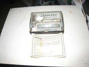 Vintage Gillette Safety Razor Slim Adjustable  w/ Case & Blades