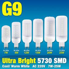 g9 7/9/12/15/20/25w 5730 smd led corn bulb lamp milky cool/warm white 220v light
