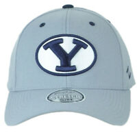 NCAA Zephyr Brigham Young Cougars Flex Fit Stretch Small Medium Gray Hat Cap