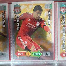 Adrenalyn xl 2011/2012 Liverpool fc special card Luis suarez