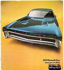 Plymouth fury 1970 usa market sales brochure i ii iii sport