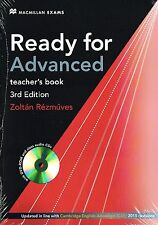 Macmillan READY FOR ADVANCED 3rd Ed Teacher's Book w DVD-ROM +CDs @New 2015 CAE
