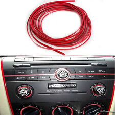 Red Trim Molding Strip Interior Car Styling Speakers Gauges Dashboard Trim 5M