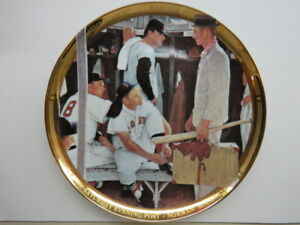 """Rare 10"""" Gold Edition SPORTS IMPRESSIONS Plate """"The Rookie"""" 1957 Norman Rockwell"""
