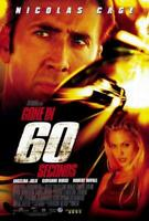 Gone in 60 Seconds Movie POSTER 11 x 17 Nicolas Cage, Angelina Jolie, A