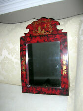 Chinoiserie Hand Decorated Chippendale Mirror