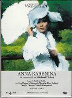 2 Dvd Sceneggiati Rai ANNA KARENINA di Sandro Bolchi con L.Massari completa 1974