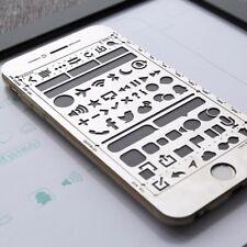 Metal Stencil for Planner / Journal / Art / Hobonichi / TN (WebUI iPhone 6)