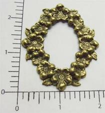 21113         Brass Oxidized Large Victorian Frame Jewelry Finding