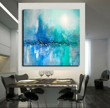 Abstract landscape painting Textured wall art Large modern wall art canvas decor