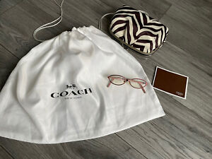 Coach Monogram Oval Frames Glasses with Dust Bag and Purse