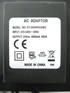 4000ma 24v AC-AC (AC Output) Mains Power Adaptor/Supply/Charger (4a 96w 96va)