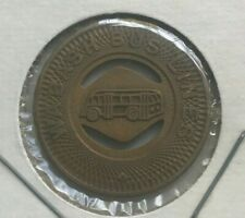 Wabash Indiana IN Wabash Bus Lines Transportation Token