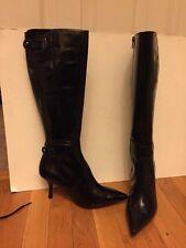Nine West Black Zipped Heel Boots Sz 7.5 M