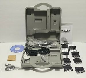 Andis PM-3 Animal Pet 8-Piece Detachable Blade Clipper Kit NEW & Tested
