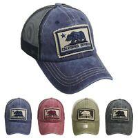 CALIFORNIA REPUBLIC Baseball Cap Mesh Trucker Cotton Sun Hat CALI BEAR Snapback
