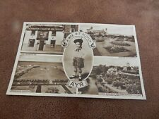 Real Photo postcard -A wee bit of Scotch - Ayr Multiview Scotland