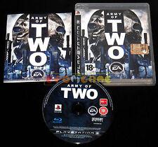 ARMY OF TWO 1 Ps3 Versione Ufficiale Italiana 1ª Edizione ••••• COMPLETO