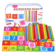 Baby Toy Wooden Counting Sticks Early Education Montessori Wooden Kids Math Toy