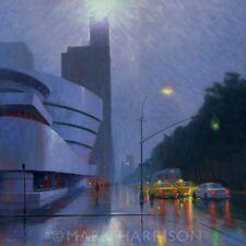 """BEAUTIFUL ORIGINAL MARK HARRISON """"Guggenheim"""" Museum New York USA OIL PAINTING"""