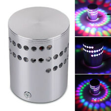 3W RGB LED Light Bulb Wall Lamp Spiral Ceiling Aluminum Porch Remote Control