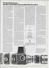1967 Hasselblad Camera System Interchangable Lenses Article Original Print Ad