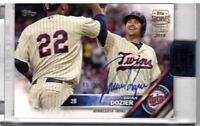 BRIAN DOZIER 2016 TOPPS SERIES ONE AUTO #308 2018 ARCHIVES 85/91 MINNESOTA TWINS