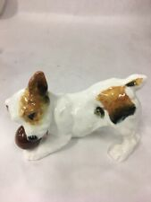 Royal Doulton Figurine Puppy Dog Jack Russell Terrier Playing With Ball Hn 1103
