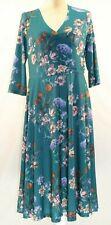 Lbisse Blue Floral Surplice Dress Size XL