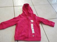Baby toddler Girls pink softest fleece hoodie sweater size 18 M NWT free ship