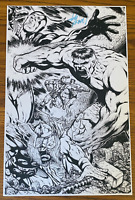INCREDIBLE HULK THOR ANT-MAN COMIC BOOK ART PAGE SIGNED PRINT JOHN HEBERT 11x17