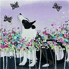 Border Collie & Butterflies Blank Greeting Card Any Occasion / Birthday NEW