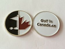 "Logo Golf Ball Marker (for Golf in Canada) - Metal 1"" Double-Sided"