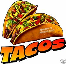 """Tacos Decal 14"""" Taco Mexican Restaurant Concession Food Truck Menu Sign Stickers"""