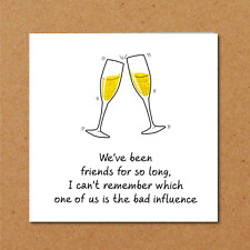 BFF Birthday Card best friend bestie girl female funny amusing fun humorous