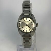 Vintage Seiko Womens 5D5673 Silver Stainless Steel Bracelet Automatic Watch