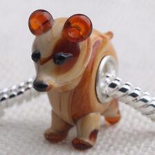 1pcs MURANO GLASS BEAD LAMPWORK Fit European Charm Bracelet DK-22 lovely Animal