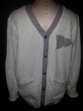 New ERA Mens Sweatshirt Sweater Embroidered Cardigan Button Front Gray Sz Large